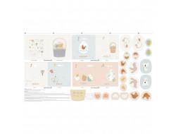 Coupon Tissu Panel Toys Easter Book, Katia fabrics