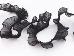 Ruban plissé voile noir
