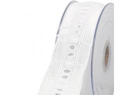 Broderie anglaise blanche - 34 mm
