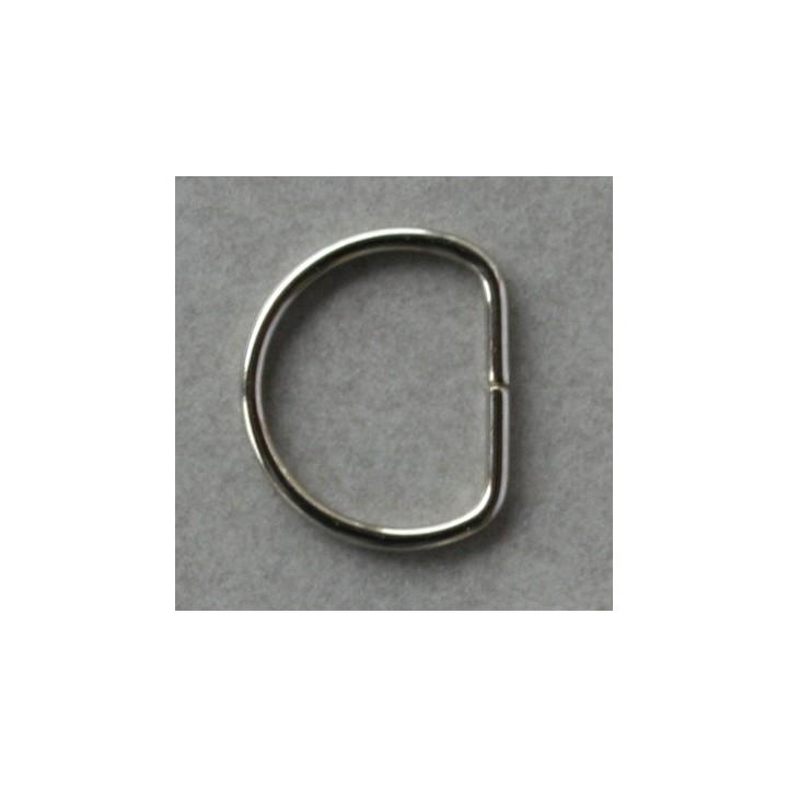 Demi anneaux métal argent 15 mm