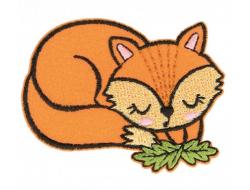 Écusson thermocollant - Renard endormi