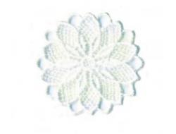 Écusson thermocollant - fleur ajouré blanc