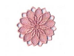 Écusson thermocollant - fleur ajouré rose pâle