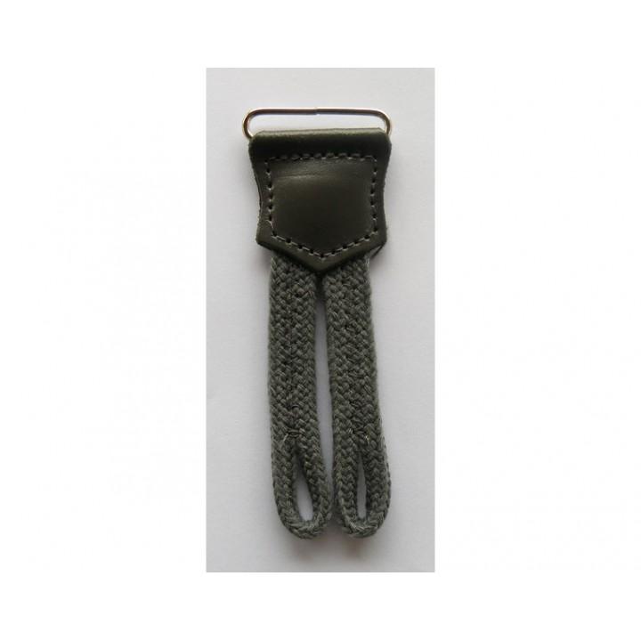 Patte de boutonnage pour bretelles grise