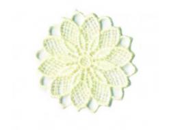 Écusson thermocollant - fleur ajouré rose beige