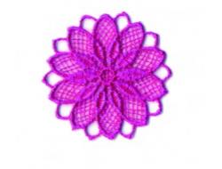 Écusson thermocollant - fleur ajouré fushia