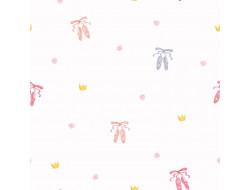 Tissu coton organique - Ballerines Multicolores, Katia Fabrics