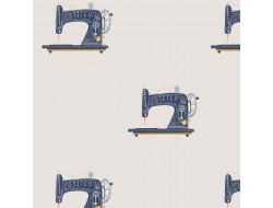 Tissu coton - Machine à coudre, Katia Fabrics