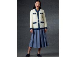 Patron veste, ceinture, jupe et pantalon femme - Vogue 1757