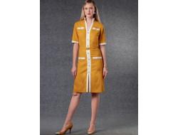 Patron robe et ceinture femme - Vogue 1781