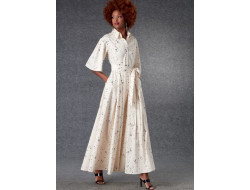 Patron robe et ceinture femme - Vogue 1783