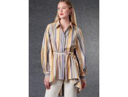 Patron chemise et ceinture femme - Vogue 1786