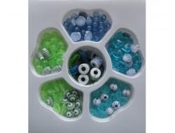 Kit de perles bleu, vert