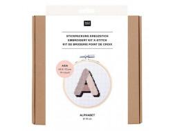 Kit broderie Alphabet Rico Design