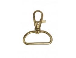 Mousqueton métal bronze - 25 ou 30 mm