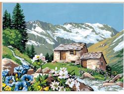 Canevas L'alpage fleuri, Seg