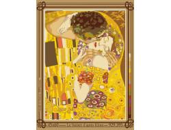 Canevas Le baiser d'après Klimt, Seg