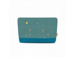 Pochette trousseau bleu celadon