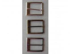 Boucle métal pour ceinture argent, bronze, brun