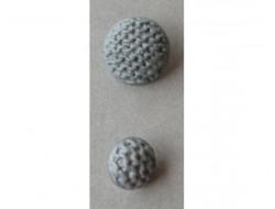 Bouton gris clair 18 et 25 mm