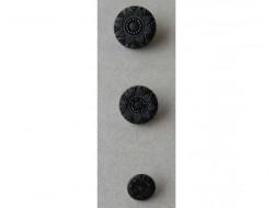 Bouton noir 12, 19 et 23 mm