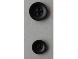 Bouton noir 4 trous