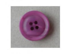 Bouton violet 4 trous 20 mm