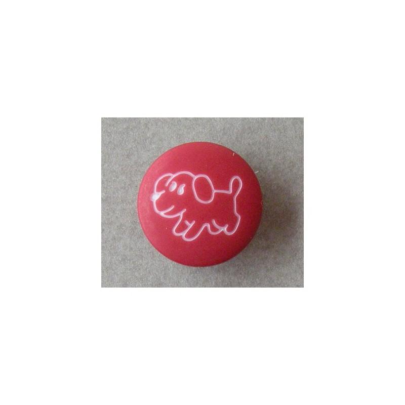 bouton enfant rouge petit chien mercerie floriane. Black Bedroom Furniture Sets. Home Design Ideas