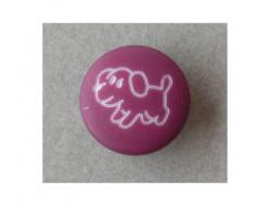 Bouton violet petit chien
