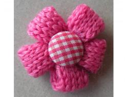Fleur tricot rose fushia