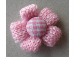 Fleur tricot rose