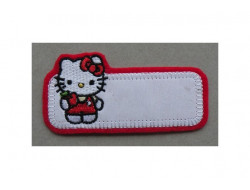 Ecusson thermocollant Hello Kitty rouge