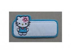 Ecusson thermocollant Hello Kitty bleu
