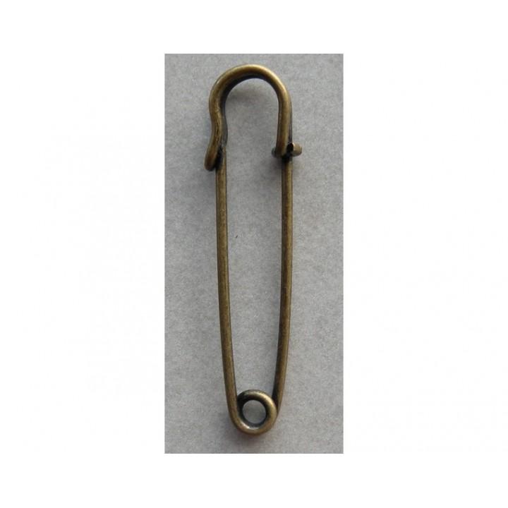 Épingle kilt métal bronze