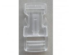 Boucle sacoche, transparente 25 mm