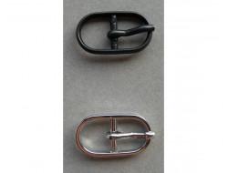 Boucle métal noire ou argent 12 mm