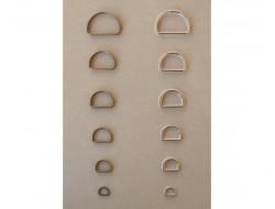 Demi anneaux métal argent ou bronze