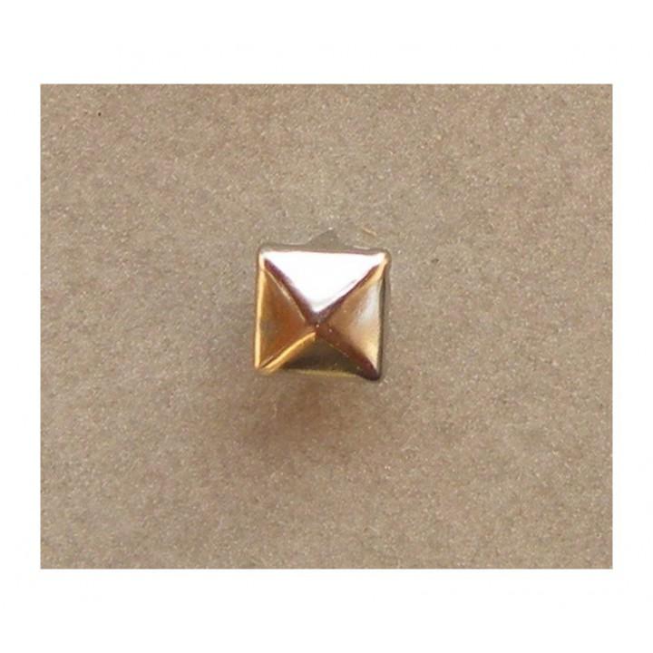 Clou à griffes carré argent 7 mm
