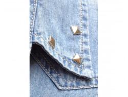 Clou à griffes carré argent 12 mm