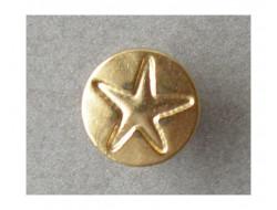 Bouton métal doré