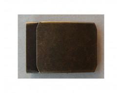 Boucle de ceinture militaire métal bronze