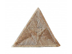 Ecusson thermocollant triangle beige