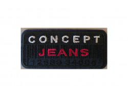 Ecusson thermocollant concept Jeans Marine