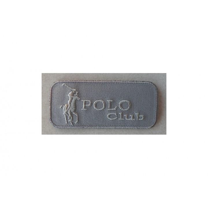 Ecusson thermocollant Polo gris