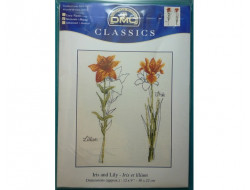 Kit broderie, Iris et lilium