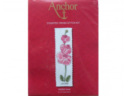 Kit point de croix marque pages Orchidé Anchor