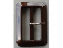 Boucle de ceinture marron 50 mm