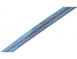 Galon fantaisie bleu géométrique