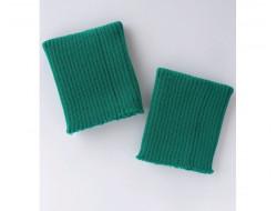 Poignets bords côtes acrylique vert