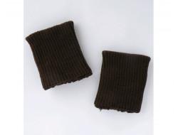 Poignets bords côtes acrylique marron